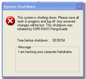 Fake forced shutdown